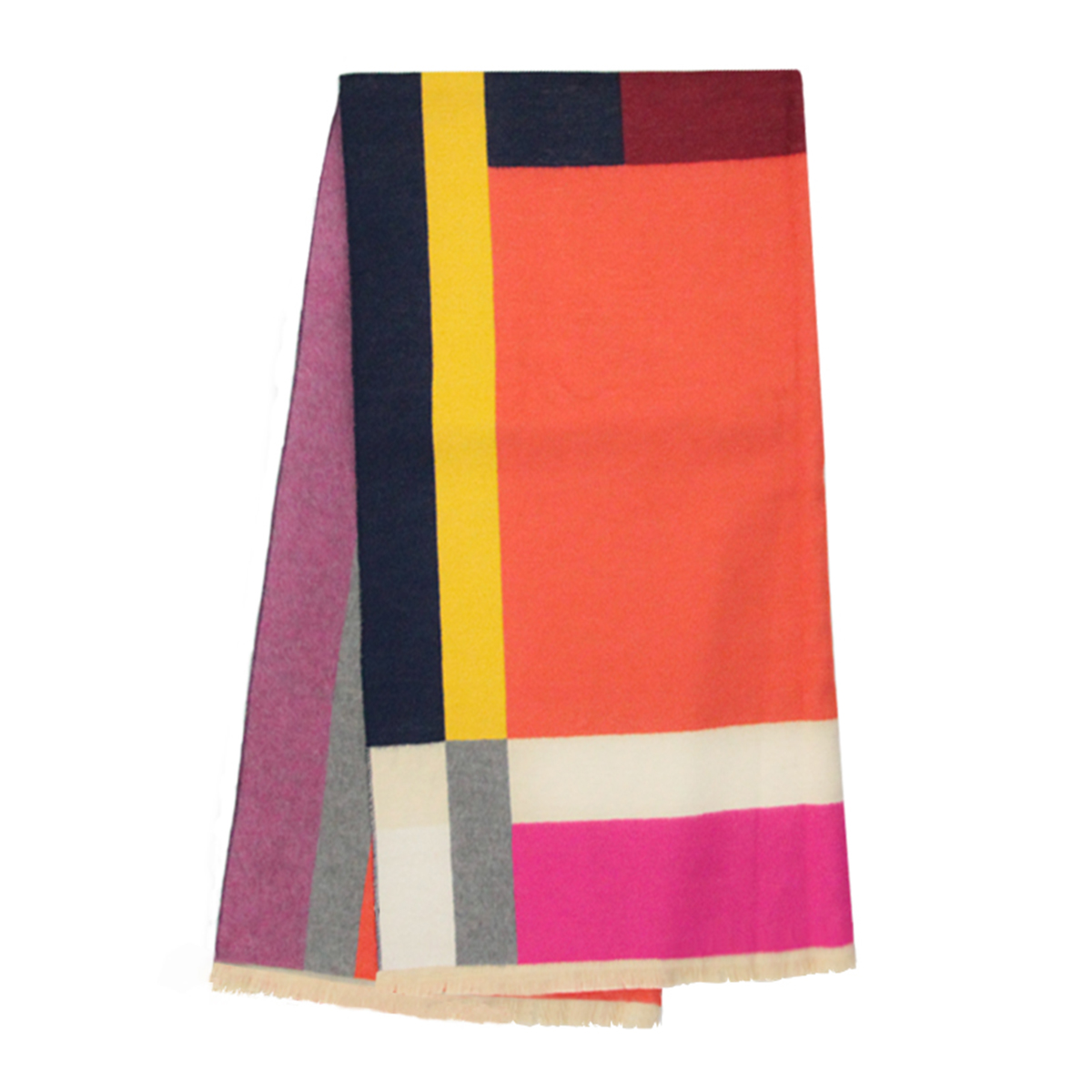 Graphic pattern scarf
