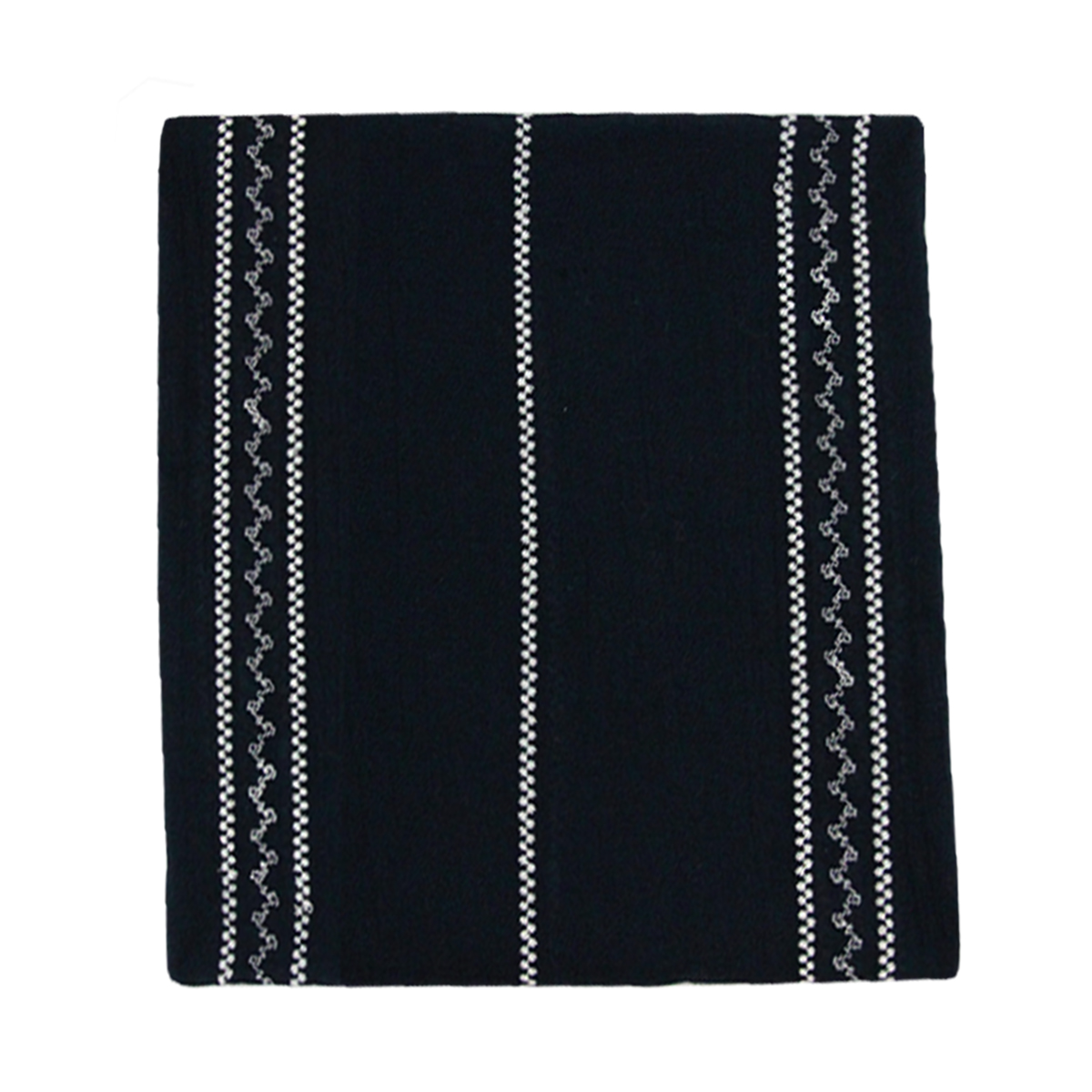 Blue scarf embroidered sides
