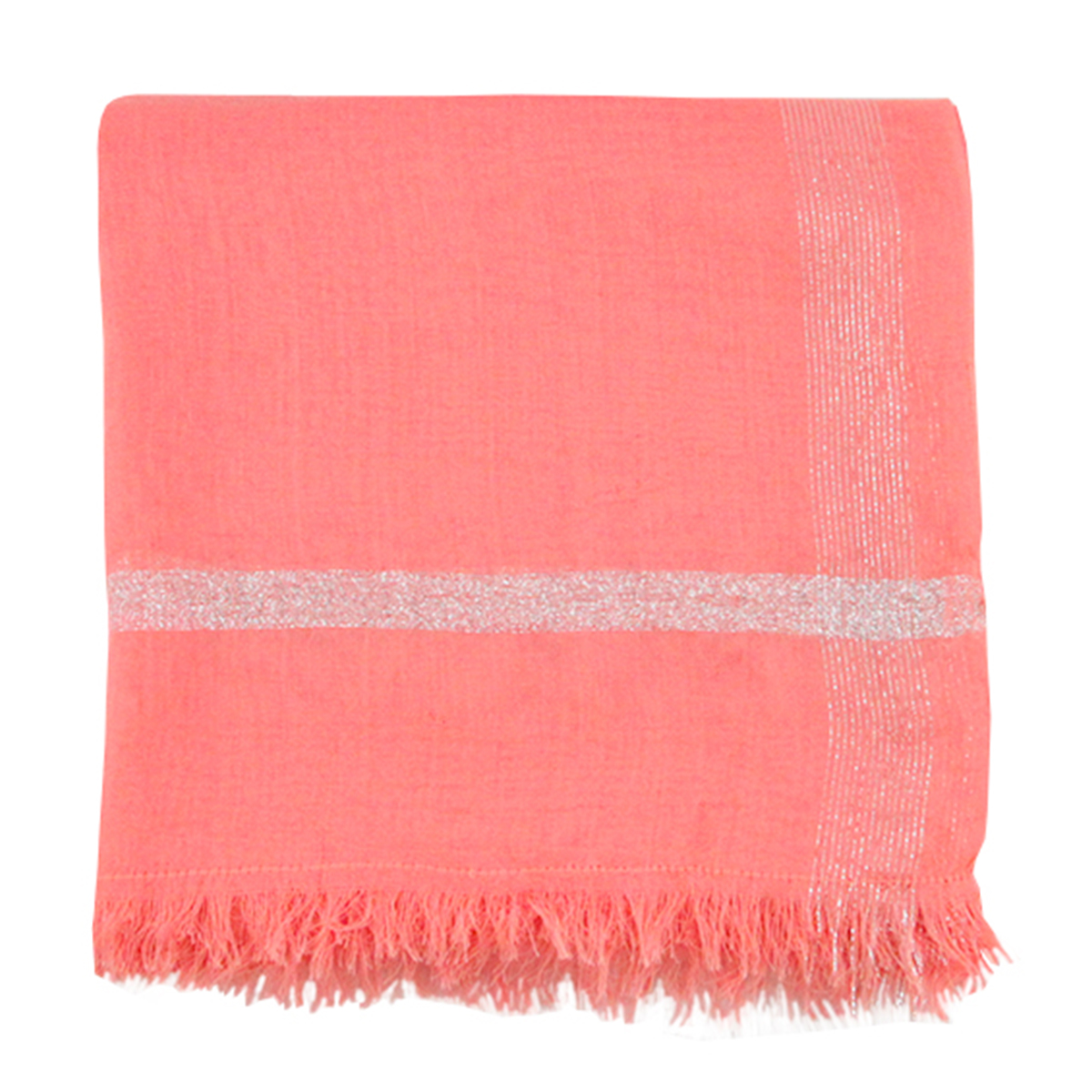 Foulard Rose Lurex
