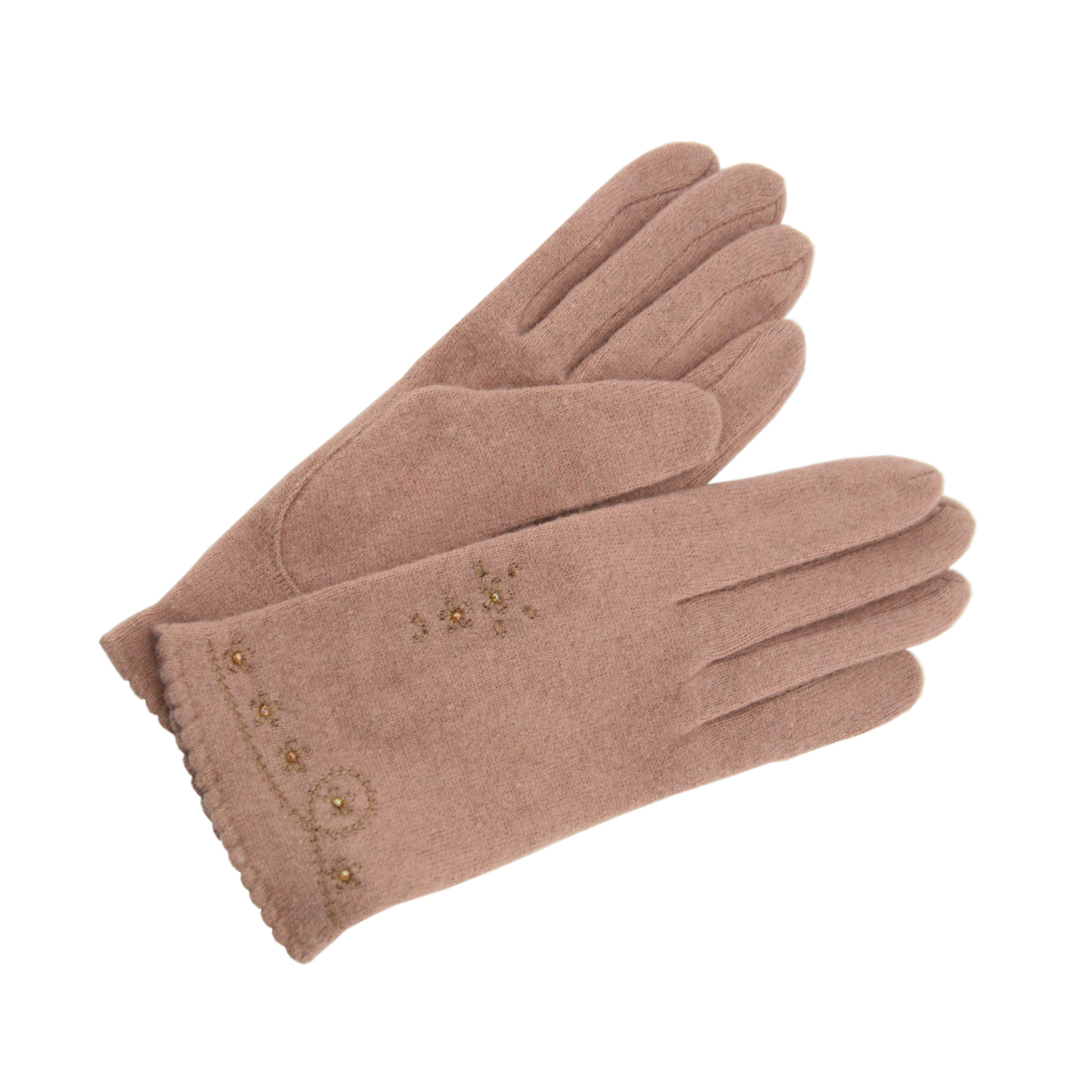 Embroidered woman glove