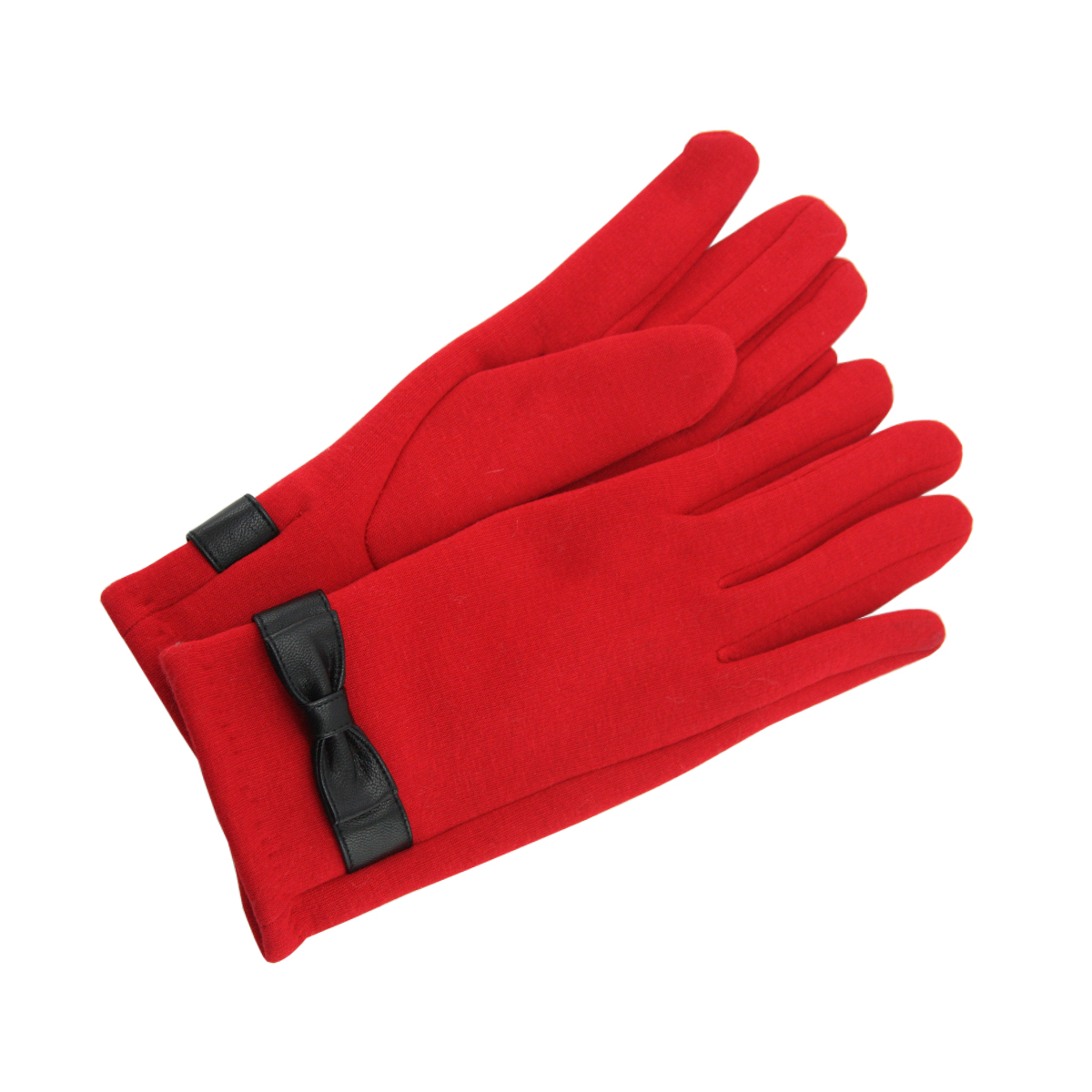 Woman Red Gloves